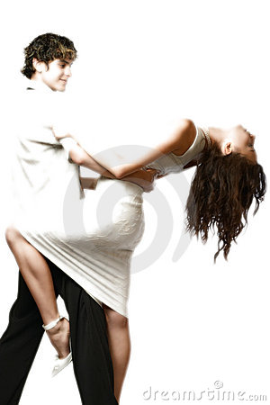 Free Dancing Teen Couple, Happy And Funny Stock Photography - 370712