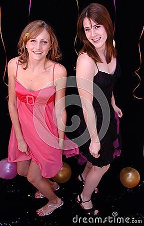 Dancing teens at party