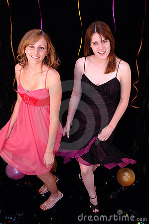 Dancing teens at party