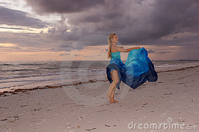 Dancing under clouds