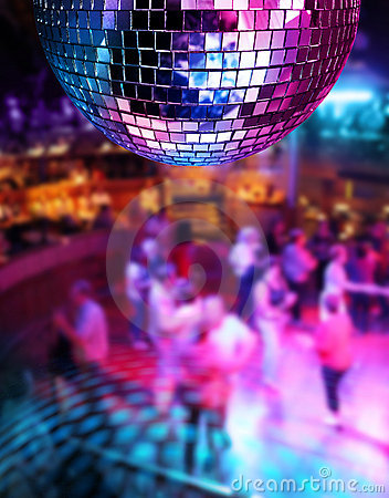 Free Dancing Under Disco Mirror Ball Stock Images - 20547304