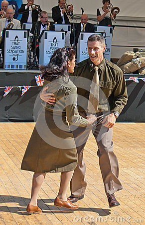 Free Dancing Wartime Soldiers Royalty Free Stock Photo - 26130555