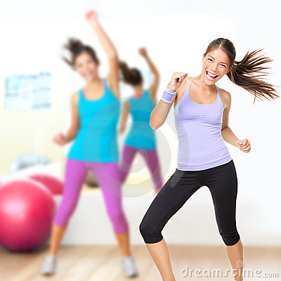 Free Dancing Woman Fitness Dance Studio Class Royalty Free Stock Photo - 24018825