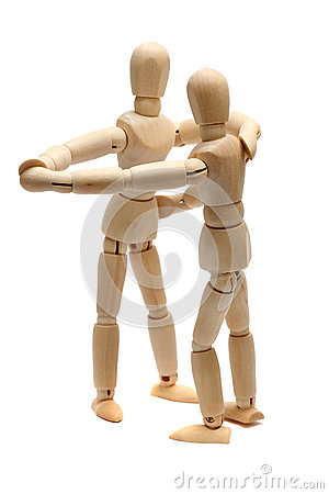 Free Dancing Wooden Dolls Stock Photos - 26876723
