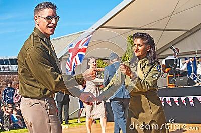Dancing in World War 2 Editorial Photo