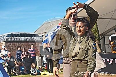 Dancing in World War 2 Editorial Photography