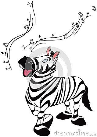 Dancing zebra