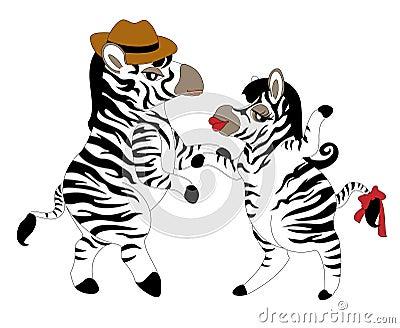Dancing zebras