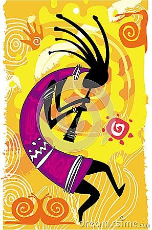Dancingowa postać kokopelli