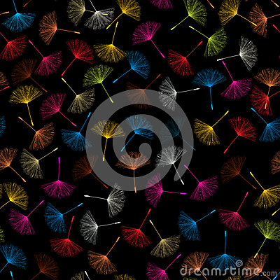 Dandelions seed pattern
