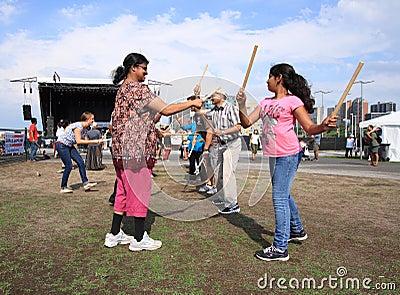 Dandiya at Festival Editorial Photo