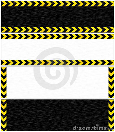 Danger banners.