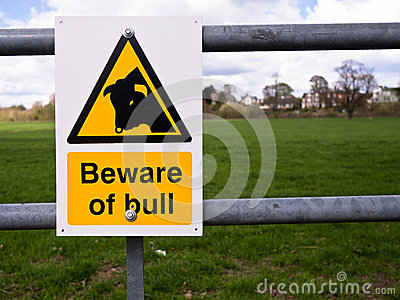 Danger - Beware of the Bull