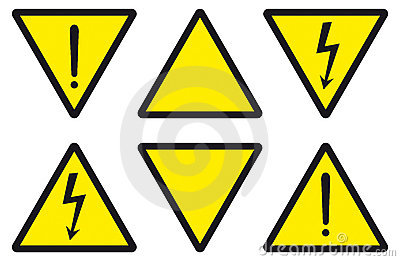Danger, caution, electricity