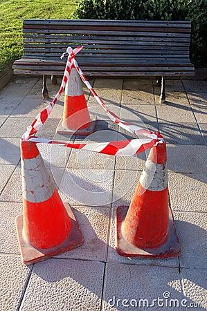 Danger cones
