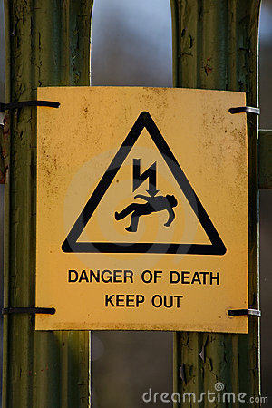 Danger Of Death Sign Royalty Free Stock Photo - Image: 22187845
