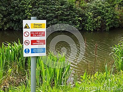 Danger Deep Water No Swimming
