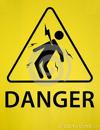 Danger of electrocution sign