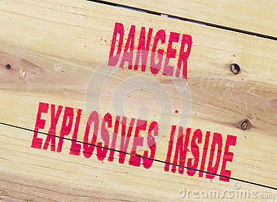 Danger explosives