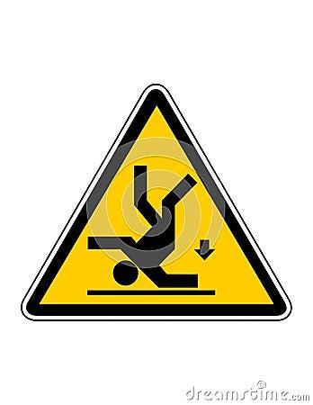 Danger falling risk