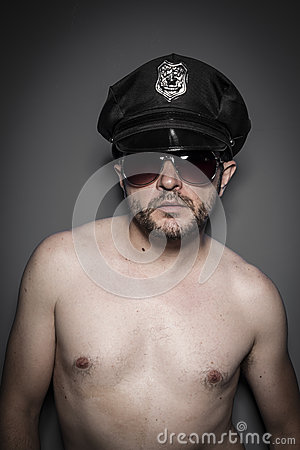 Danger, Good looking policeman, sexy police with sunglasses over