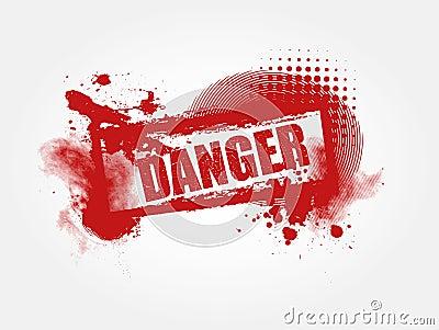 Danger Grunge Background
