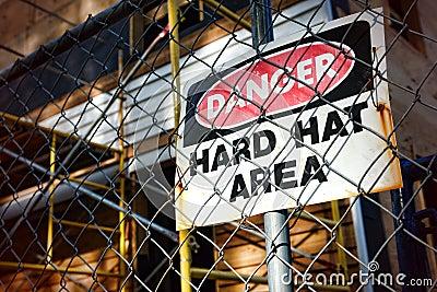 Danger Hard Hat Area Warning Sign