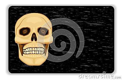 Danger - human skull