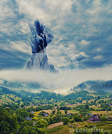 Free Danger In The Mountains Royalty Free Stock Image - 96706756