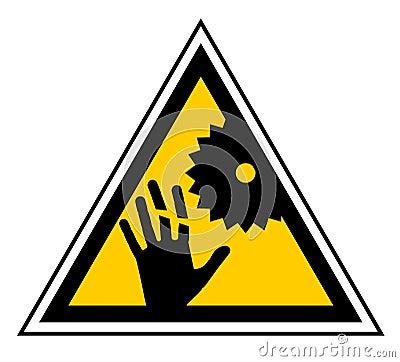 Danger machine sign