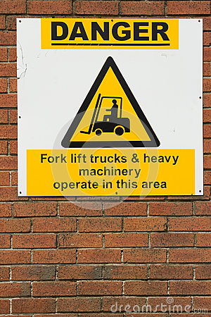 Danger, machinery sign.