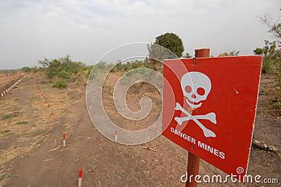 Danger mines Editorial Stock Photo