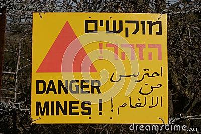 Danger - mines sign