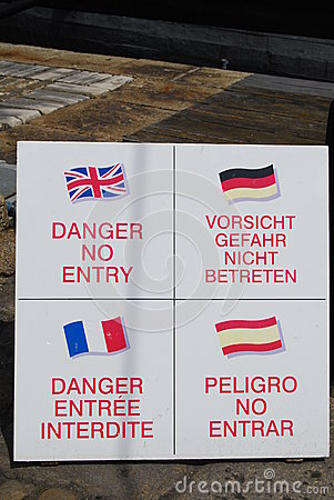 Danger No Entry signs