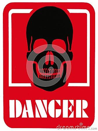 Free DANGER OF DEATH - Hazard Warning Sign Royalty Free Stock Photos - 15077848