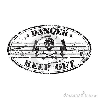 Danger oval stamp