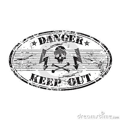 Danger oval stamp
