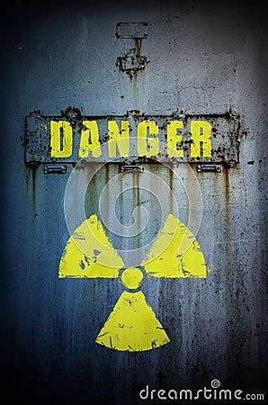 Danger! Radiation contaminated area.