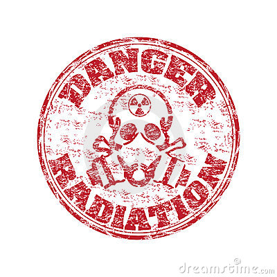 Danger radiation stamp
