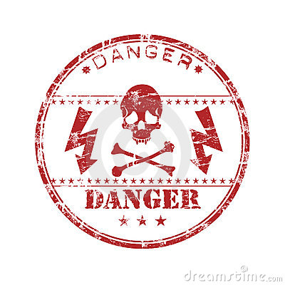 Danger rubber stamp