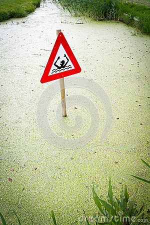 Danger signal in canal