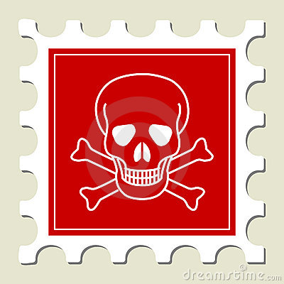 Danger Skull Sign Stamp