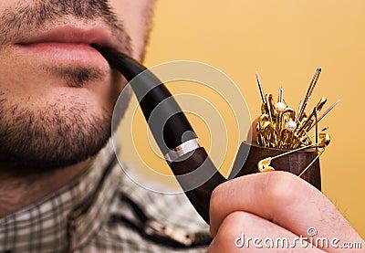 Danger of smoking concept
