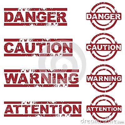 Danger stamps