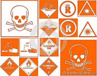Danger symbol collection