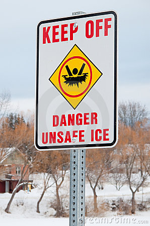 Free Danger Thin Ice Stock Photo - 7625030