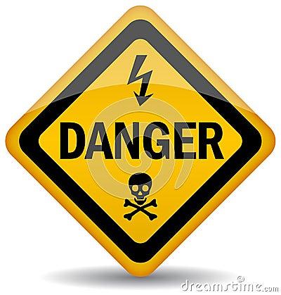 Free Danger Warning Sign Royalty Free Stock Photography - 20061467
