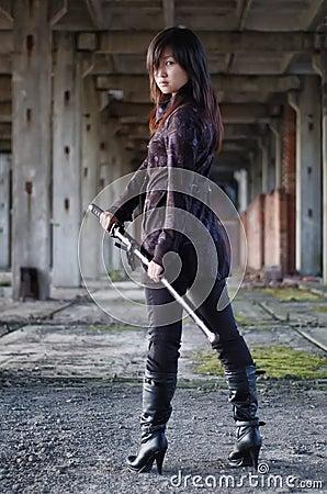 Dangerous asian girl
