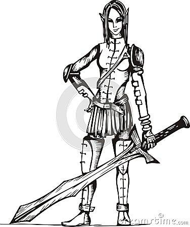 Dangerous Elf Girl Warrior
