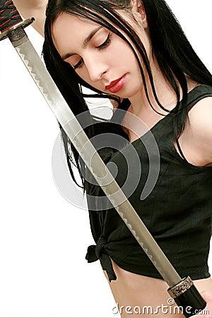 Dangerous girl with sword